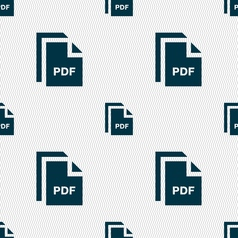 File pdf icon sign seamless pattern with geometric vector