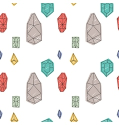 Hand drawn abstract diamond seamless pattern vector
