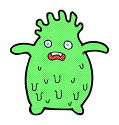 Comic cartoon funny slime monster vector