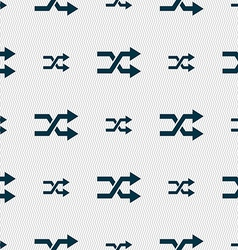 Shuffle icon sign seamless pattern with geometric vector