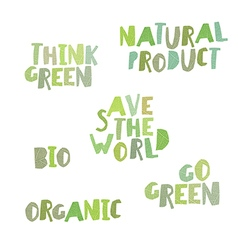 Think green natural product save the world bio vector