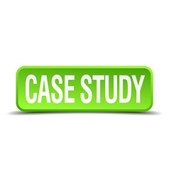 Case study green 3d realistic square isolated vector
