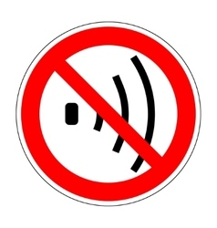 No voice sign 904 vector
