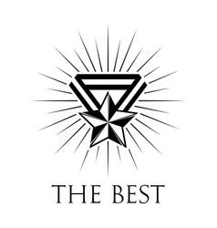 award icon or logo on white vector image vector image