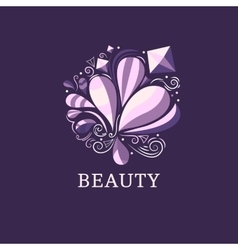Beauty and fashion logo template vector image vector image
