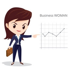 Business woman long hair character vector