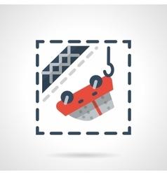Car evacuation flat color icon vector