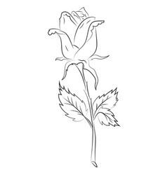 Cartoon image of blue flower tattoo cartoon vector