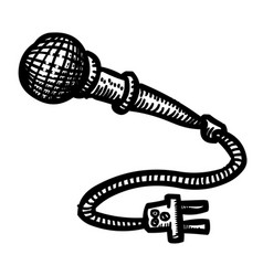 Cartoon image of microphone icon vector