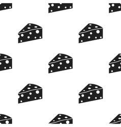 Cheese icon black single bio eco organic vector