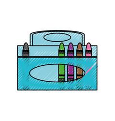 crayons in box vector image