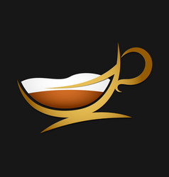 cup of coffee silhouette vector image