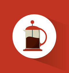 french press coffee glass vector image vector image