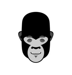 gorilla sleeping emoji monkey asleep emotion vector image vector image