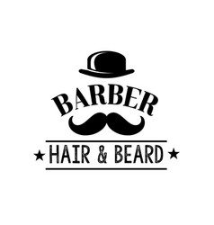 Hair and beard man barber shop icon vector