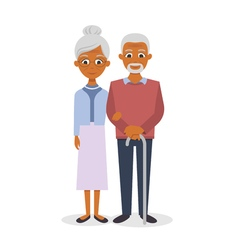 happy smiling senior couple vector image vector image