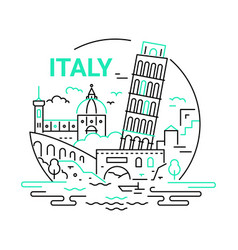 Italy - modern line travel vector