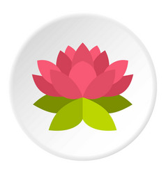 Lotus flower icon circle vector
