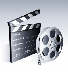 movie symbols vector image vector image