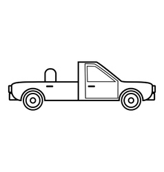 Open car icon outline style vector
