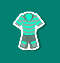 Paper sticker fashion clothes shorts and polo vector