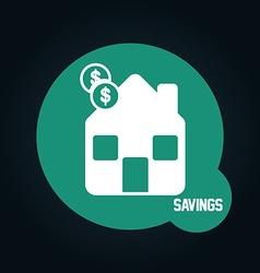 savings icon vector image