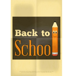 school poster pencil vector image