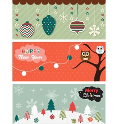 Set of Christmas banner vector image vector image