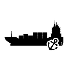 Ship anchor transportation design vector