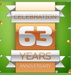sixty three years anniversary celebration design vector image vector image
