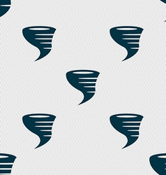 Tornado icon Seamless abstract background with vector image