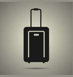travel bag icon in black and white style vector image vector image