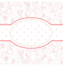 Valentines day heart floral invitation postcard vector
