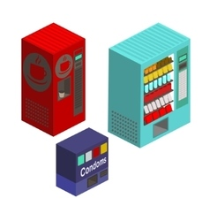Vending machines isometric set vector