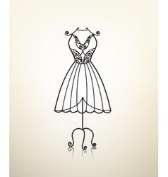 Vintage metal dress hanger tailor studio vector