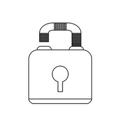 Safety lock icon image vector