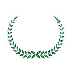 green laurel decoration ornament sport symbol vector image