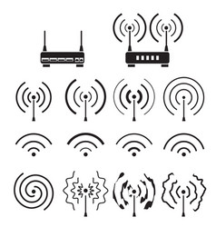 Collection of wifi and wireless signal wave vector