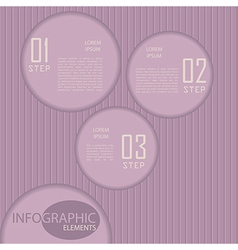 Circle paper infographic with striped backdrop vector