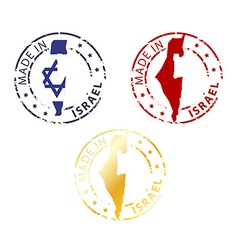 Made in israel stamp vector