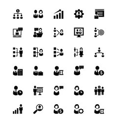 Human resource icons 1 vector
