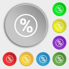 Percentage discount icon sign symbol on eight flat vector