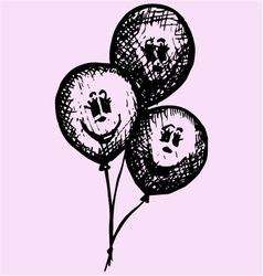 Birthday party balloons vector