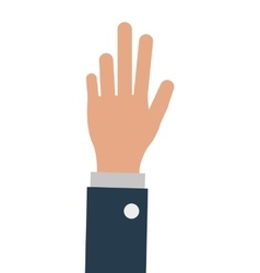 Business person one hand up isoalted vector