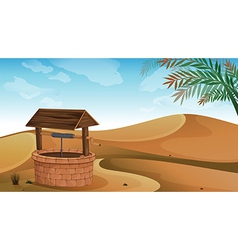 A well at the desert vector image vector image