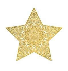 abstract star mandala ornate vector image vector image