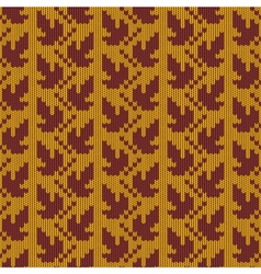 Autumn Knitted Pattern 1 vector image vector image