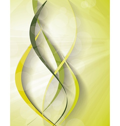 banner with fresh green leaves vector image vector image