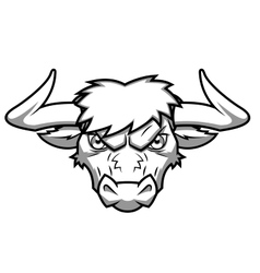 Bull head 2 vector image vector image