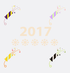 Collection of new year slapstick vector